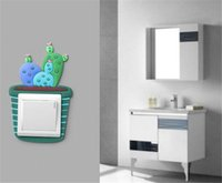 Wholesale switch sticker cover for sale - Group buy Luminous Cactus Switch Sticker Creative Switch Cover Socket Wall Sticker Switch Decorative Luminous Sticker