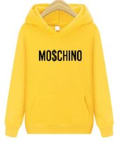 sudaderas de colores mezclados al por mayor-Nueva moda MOSCHINO Sudaderas Mujer Hombres chaqueta con capucha Mezclar y combinar abrigo deportivo
