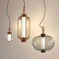 Wholesale suspension light bubbles for sale - Group buy Classical Glass Bubble Fishing LED Pendant Lamp Smoke Gray Suspension Chandelier Home Decor Living Room Ceiling Light PA0222