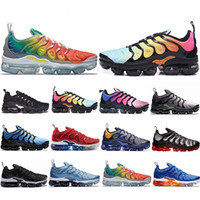 Wholesale tn max running shoe for sale - Group buy VP MAX TN Plus Running Shoes Men Women Game Royal Rainbow bleached aqua TRIPLE WHITE BLACK Fades Blue VOLT Trainer Designer Sneakers