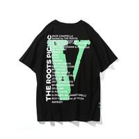 x erkek giyim toptan satış-Vlone x Bir $ AP Rocky Kökleri Piknik T-shirt Erkek Kadın t gömlek Harajuku tişört Hip hop Streetwear Marka Yaz Pamuk Giyim Baskı Tees En