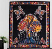ingrosso grande fungo-asciugamano spiaggia panno commercio estero appeso casuale nordico stile indiano misterioso grande fungo decorativo panno asciugamano appeso a parete
