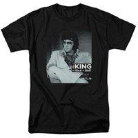 kings fashion fotografías al por mayor-Auténtico Elvis Presley Es bueno ser el rey de la foto de la foto del rollo de ROck Camiseta para hombre Moda 2018 Marca O-cuello