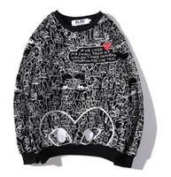 suéteres de flores para mujer al por mayor-Cálido Diseñador de Invierno Marca Casual Mujer Hombre Sudaderas Con Capucha Para Mujer Streetwear Hoodied Sweater cdg paly Hoodies