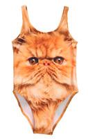 maillot de bain chat achat en gros de-NOUVEAU Enfants Bébé Filles Beaux Animaux Fantaisie Mignon Chat Minions Jaune Maillot De Bain Maillot De Bain Canis Marque Bikini Ensemble Âge 2-10Y Filles