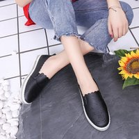 Wholesale silver shoes online for sale - Group buy 2019 Spring And Summer Style Leather Elevator WOMEN S Shoes Hollow out Breathable Versatile Online Celebrity Shoes Athletic Shoe