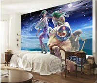 Wholesale mural painting wallpaper oil for sale - Group buy WDBH custom photo d wall paper Hand drawn romantic twelve constellation oil painting Aries cartoon d wall murals wallpaper for walls d