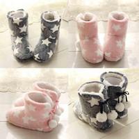 sevimli pembe çizmeler toptan satış-Yeni Örgü Yün Yumuşak Sıcak Yumuşak Sıcak Kış Ev Sessiz Sevimli Peluş Topu Kadınlar İç Boots Yüksek Kaliteli Kapalı Ayakkabı