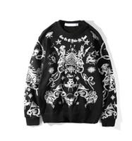 großes sweatshirt großhandel-Europa Vereinigte Staaten Gezeiten Marke Sweatshirt Männer Designer große Stickerei Pullover Jacke Mode Box Logo Rundhals Pullover rote Markierung