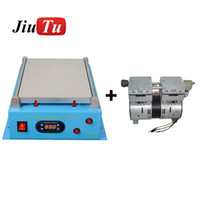 Wholesale inch pumps resale online - Dual Pump Built in Max inch for iPad for iPhone Glass Vacuum LCD Separator Split Screen Repair Machine for Samsung Tablet PC