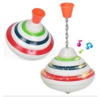 piscar beyblade venda por atacado-72 Pcs Atacado Lotes Beyblade Cantar Top LED Light Up Música Piscando UFO Spinning Tops Gyro Brinquedos para Crianças Meninos