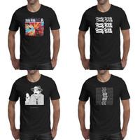 camiseta blanca impresa palabras negras al por mayor-Cheap Trick WORD camiseta negra para hombre con estampado genial t hace camisas campeón clásico blanco MASK logo especial de una línea de dibujos animados bonito traje y
