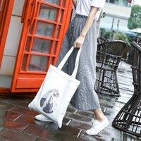 Wholesale custom messenger bags resale online - custom logo female Shoulder Messenger bag canvas shoulder bag female Korean students ins DIY personalized custom canvas bag