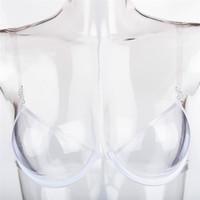 sutiã transparente transparente venda por atacado-Mulheres Sexy Sutiã Invisível Sutiãs Transparentes de Plástico TPU Push Up Bras Um Off Bra Claro Sutiã Descartável One Time Busto Shaper Cueca Quente