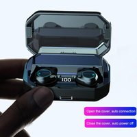 Wholesale samsung new touch phones online – New G03 bluetooth headset mAh power bank TWS true wireless touch control earbuds sports Mic music earphone with phone holder
