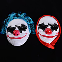 Wholesale nose clown party for sale - Halloween Funny Red Nose Clown Full Face Mask Men Women Fearsome Masquerade Party Supplies Cosplay PP Masks jq hh
