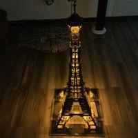 eiffelturm weihnachtslichter großhandel-Paris Eiffelturm Schöpfer Experte Led-Licht Set Für Kompatible IEGOset 10181 17002 Bausteinziegelsteine Spielzeug Weihnachtsgeschenke