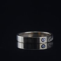 festa de jóias do dia dos namorados venda por atacado-Mulher Estreita Anel de Diamante de Luxo Design Rose Gold Party Anéis De Casamento Dia Dos Namorados Presente Encantos Jóias