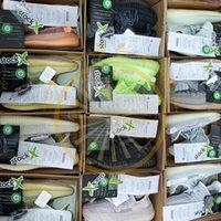 ingrosso scarpe da ginnastica kanye west bagliore scuro-Con Stock X Antlia Lundmark 3M Tutte le scarpe da corsa riflettenti Glow In Dark Clay Pink Nero Static Kanye West Sneakers da uomo Mens Trainers