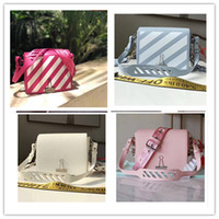 ingrosso borsa bianca rossa-DIAGONAL Baby OFF MINI Flap Bag Donna borse classiche moda Semplice piccolo quadrato rosa blu rosso bianco nero SCULTURA Borsa dimensioni 19 * 9 * 16 cm