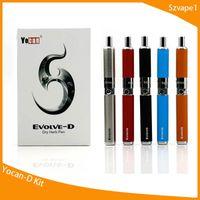 ego e zigaretten-dual-kit großhandel-Yocan Evolve-D Starter Kits trockenes Kraut Vaporizer Pen mit Pancake Dual Coils 650mAh Batterie Ego Thread Zerstäuber Vape E-Zigarette Kit-1