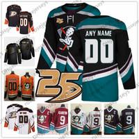 jersey de yakupov venda por atacado-Personalizado Anaheim Ducks Preto Terceiro Jérsei Personalizado Qualquer Número Nome homens mulheres juventude kid Branco Laranja Roxo Do Vintage Getzlaf Kesler Rakell 4XL