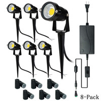 Upgrade LED Outdoor Spotlight,8 Pack 12V Low Voltage Landscape Lighting  Warm White IP65 Waterproof Garden Lights With UL Listed Adapter