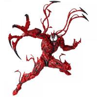 Wholesale new cartoon model girls resale online - Superhero Red Venom Carnage Plastic Doll toys New kids Avengers Cartoon game spiderman venom Figure kids toys