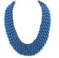 цепочка из кости оптовых-fashion women lock bone chain Bohemian style hand-woven  necklace for women wedding necklace wj105