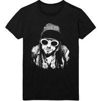 coloca óculos venda por atacado-Kurt Cobain Unisex Óculos Pose Official Tee Camiseta Mens