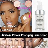 ingrosso tonificante la pelle del viso-TLM 30ML Fondotinta liquido per fondotinta liquido che cambia colore magico Fondotinta per viso nudo Correttore Trucco duraturo Fondotinta per il tono della pelle