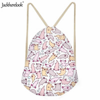 ingrosso sacchetti sportivi delle signore dentellare-Jackherelook Daily Small Ladies Travel Sack Bags Adorable Axolotls Art Printed Swimming Backpack Pacchetto sportivo casual Kids Pink