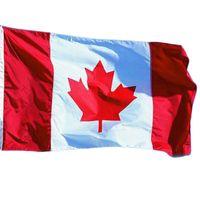 ingrosso sfilate-Canada National Flag 3 * 5ft Canada Maple Leaf Banner Bandiere 90 * 150cm Attività / Parade / Festival di celebrazione della decorazione della casa Flag