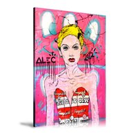 Wholesale monopoly art online - Unframed Framed Alec Monopoly TWIGGY CAMPBELL DRESS Home Decor HD Printed Modern Art Painting on Canvas x24