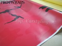 Wholesale camouflage foil car resale online - large red forest style camouflage car wrap covering foil film with air release size x10m m m available