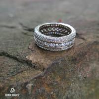 imitações anéis venda por atacado-925 anel de diamante de imitação por Mulheres anel de cristal completo para homens casamento de luxo designer de jóias tamanho 6 a 10 com caixa de presente