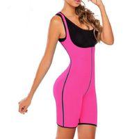 09b6a4e2bb 2019 Women Sweat Fitness Shapers Thermal Bodysuit Full Body Shaper Sauna Slimming  Waist Trainer Corsets wholesale