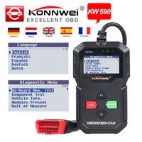 escáner obd2 eobd al por mayor-2 unids Konnwei KW590 OBD2 / EOBD Lector del código de falla del coche Escáner OBD2 Escáner de diagnóstico del coche Herramienta de diagnóstico automotriz como AD310