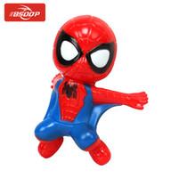 araba emici oyuncaklar toptan satış-2019 yeni Action Figure Örümcek Adam Oyuncak Tırmanma Spidy Pencere Enayi Bebek Araba motosiklet Dekorasyon 6 renk