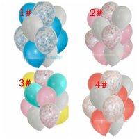 ingrosso bouquets di anniversario-12pcs 1 set confetti palloncini per matrimonio compleanno anniversario arredamento 12 pollici bouquet set matrimonio compleanno palloncini decorazione per feste KKA6335
