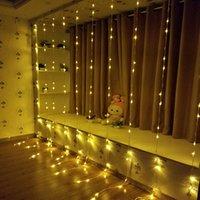 cortinas de cachoeira venda por atacado-3 mx3 m 336LED 6 mx3 m 640 LED festa de casamento de Natal fundo de férias água corrente cachoeira fluxo de água cortina LED corda luz à prova d 'água