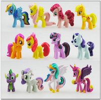 Wholesale toy horses for free resale online - cake toppers action figure game role horse toy promotion gift toys for kids set