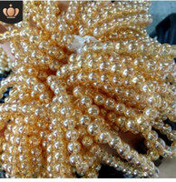 brazalete amarillo al por mayor-8 mm perlas de cristal brasileñas pulseras simples brazaletes de África pulseras del partido regalo de cumpleaños regalo amarillo pulseras 499