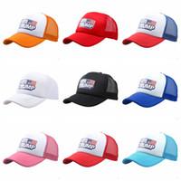Wholesale sun hat online - Cotton Trump Baseball Cap Keep America Great Hat Fashiion Donald Trump Mesh Cap Summer Beach Ball Sun Hat TTA736