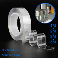 Wholesale nano gel for sale – best Double sided Gel Grip Tape Sticker Traceless Washable Adhesive Tape Nano Technology Reuse Removable Tapes Indoor Outdoor