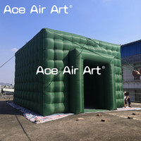 Wholesale build tent for sale - Group buy Customize giant green square building inflatable cube tent blow up marquee with one door for outdoor events trade show