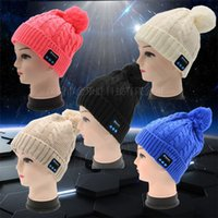 5a288a406cb9d New Men women Beanie Bluetooth hat call music stereo warm hat cool knit  Bluetooth headset fashion cap 100pcs T1I1138