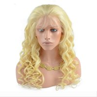Wholesale white blonde human long wigs for sale - Group buy 613 Blonde Lace Front Human Hair Wigs For White Women Loose Wave Brazilian Virgin Hair Full Lace Wigs With Baby Hair Natural Hairline
