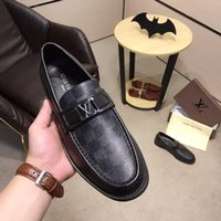 Wholesale black rubber block for sale - Group buy 2020ss Oxford Dual Density Rubber Outsole Genuine Leather Black Size With Box Casual Shoes For Men Handmade Block Flats Shoes