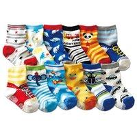 Wholesale packing for socks for sale - Group buy 12 Pairs Pack Baby Anti Slip Socks Cute Cartoon Cotoon Sock For Years Baby Girl Boy Non Slip Walking Socks Infant